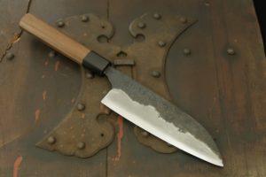 Swordsmith・ Shigemitsu Ito Tamahagane Santoku 165㎜  (Tatara Homemade)