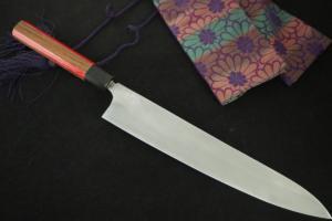 玉鋼 牛刀 9寸3分(280mm) 無銘 藤印 試作品②(自家製鋼)