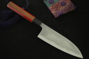 Tamahagane Gyuto-Deba (165mm)by Tou group Prototype⑤ Unwilling (Tatara Self made steel)