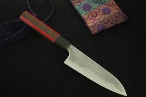 玉鋼 牛刀 5寸(150mm) 無銘 藤印 試作品⑥(自家製鋼)