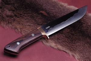 Hunting Knife Koubuse  195mm Double Bevel Yoshihiki Akitomo