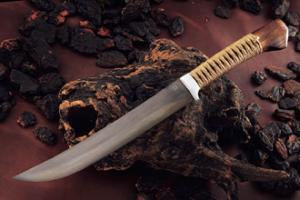 Hunting Knife Kurosabi Koubuse siiba-yamazasi 255㎜・double Bevel Yoshihiko Akitomo