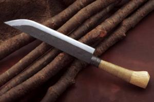 Hunting Knife 「Gokanosyou-Yamazashi」270mm・Double Bevel Yoshihiko Akitomo