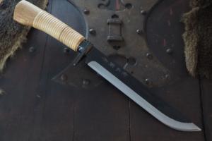 Hunting Knife Kurouchi Tosa Keiryuu Nata210㎜・Double Bevel Kitae Matsumoto