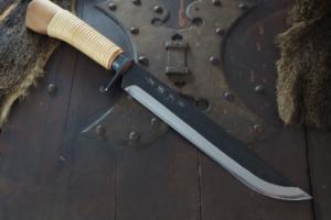 Hunting Knife Kurouchi Tosa Keiryuu Nata 240㎜・Double Bevel Kitae Matsumoto