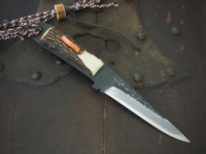 Honjyoji 2nd 「Takashoto」 with Stag and Coral 105mm・Double Bevel・High level sharpening