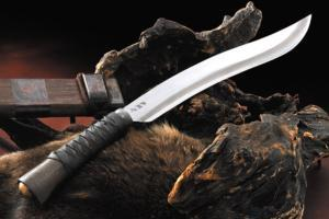 土居良明作 牛皮刀剣巻「和式クリス」9寸・両刃