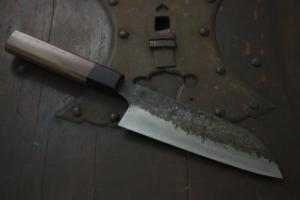 Swordsmith・Shigemitsu Ito  Tamahagane  Santoku 160㎜・Double Bevel S‐5